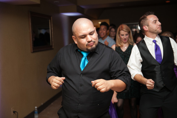 DJ Mike from Banks Entertainment leading the Cupid Shuffle