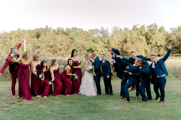Wedding party fun at the Springs Events in Edmond