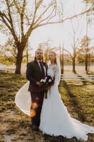 Bride and Groom at the Legacy at MK Ranch