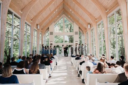 The Glass Chapel in Broken Arrow, Amazing wedding ceremony!