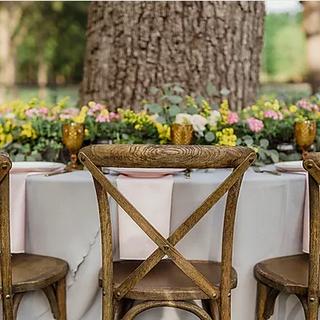Outdoor reception at Pecandarosa Ranch wedding venue