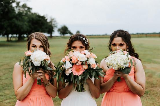 Bridesmaids at Tulsa wedding reception