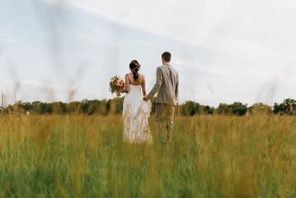 Bride and Groom at the Steel Barn in Talala Oklahoma