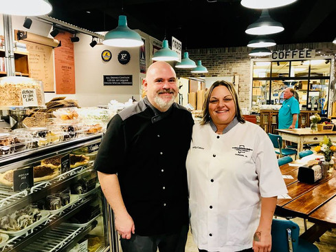 Chef Stu Donald of Bella Sera Gardens in Loxley & Chef Patty Clark of Warehouse Bakery in Fairhope - Jubilee Festival Throwdown