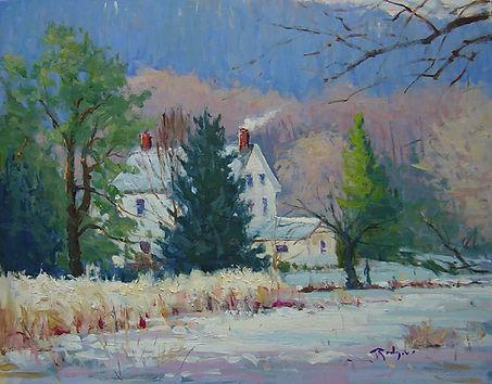 Snow Covered Morning, Upper Bucks-16X20.