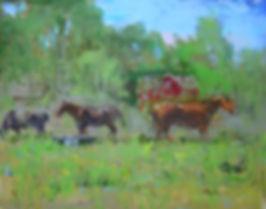 Horses in the Meadow-16X20-#4055 120.jpg