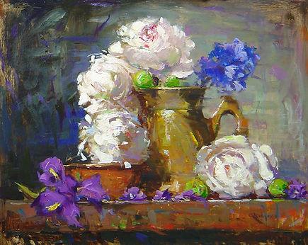 Peonies & Japanese Irises (16X20) #3340.
