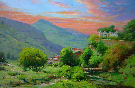 In the Italian Countryside (24X36) #1973