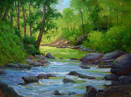 Stream in the Glen-30X40.jpg