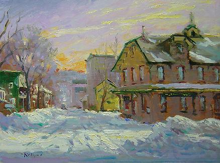 Snowbound, Lambertville Morning-12X16.jp