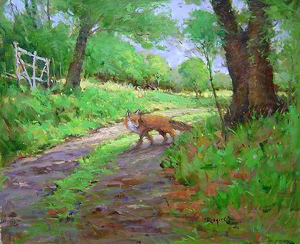 Red Fox in the Lane-20X24.jpg