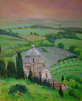 Abbey near Montepulciano-30X24.jpg