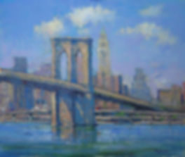 Brooklyn Bridge Blues-20X24- #3591 120.j