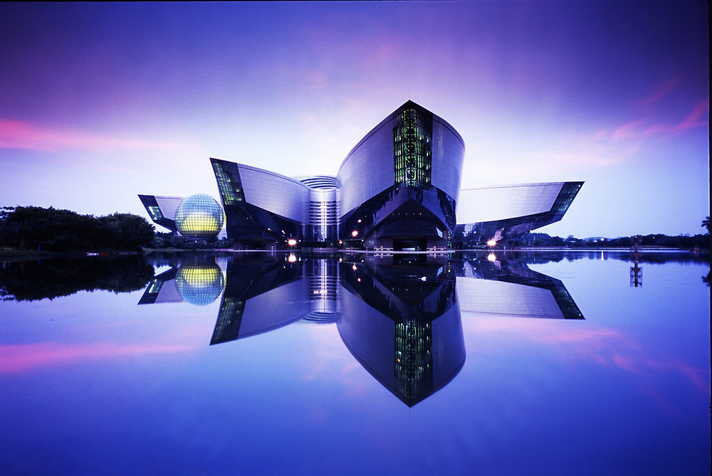 "The Trinity Science Gallery Exhibition 'ILLUSION"" continues its tour having completed its run in the Oregon Museum of Science and Industry (OMSI) in Portland. It is now in China at the extraordinary Guangdong Science Centre and the exhibition will open today. Amazing architecture... would love to see it with my own eyes! (No image credit given but taken from the 'That's Guangzhou' website)"