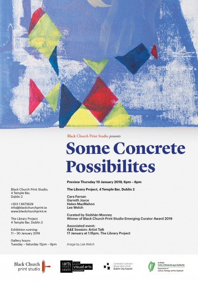 Some Concrete Possibilities exhibition poster. \