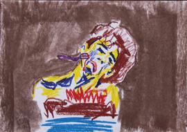 29.7x21cm, pastel on paper