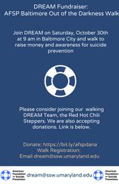 DREAM AFSP Walk Fundraiser: Walk with us October 30th!