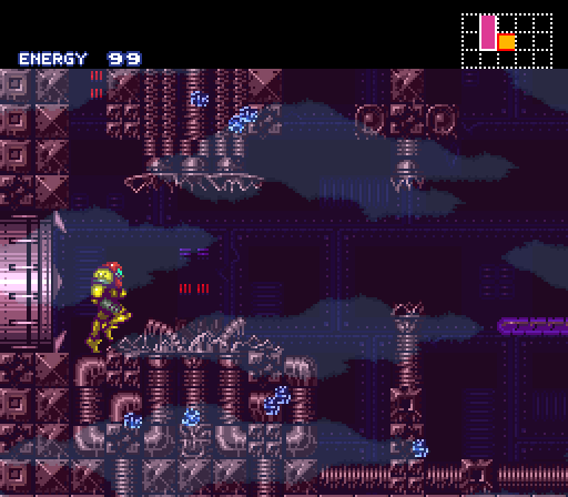 Super Metroid mother brain destroyed location