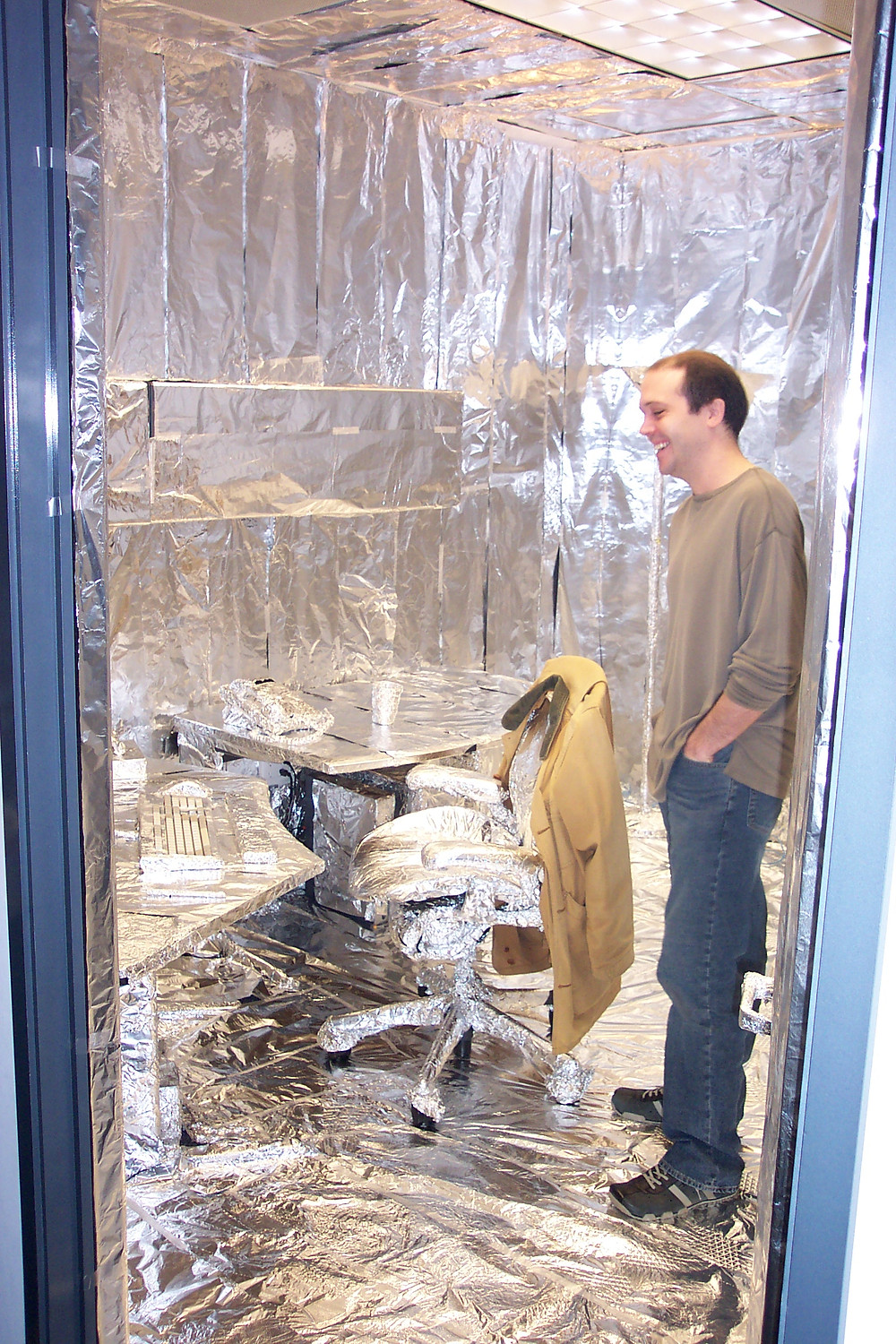 The Sims Aluminum Foil Office Prank