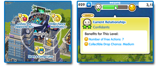 Sim City Social relationship