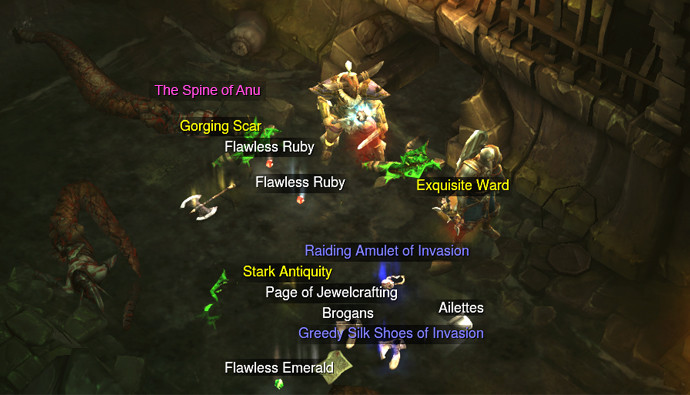 Diablo III loot Spine of Anu Mythical Items