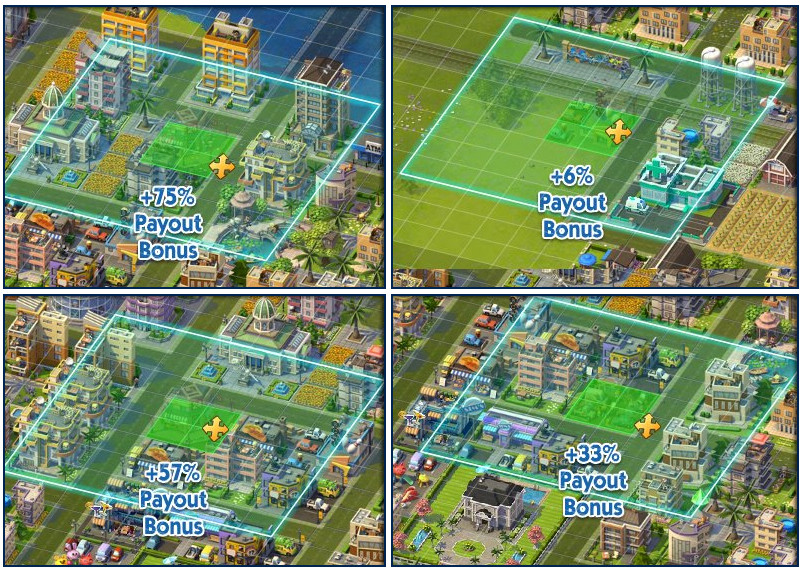 SimCity Social bonuses