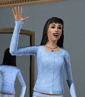 A Friendly Trait Sim (probably waving to Bella : )