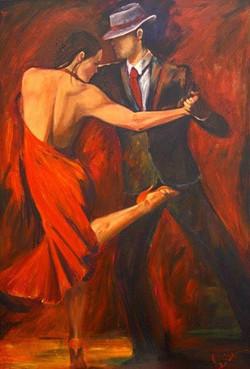 tableau danseur couple tango