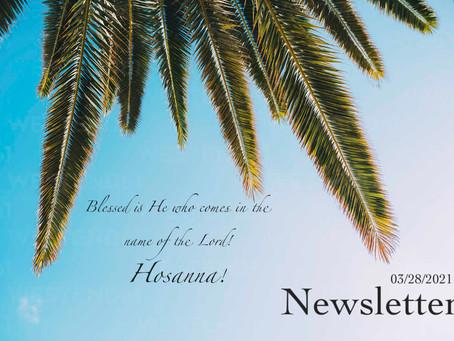 03/28/2021 Newsletter