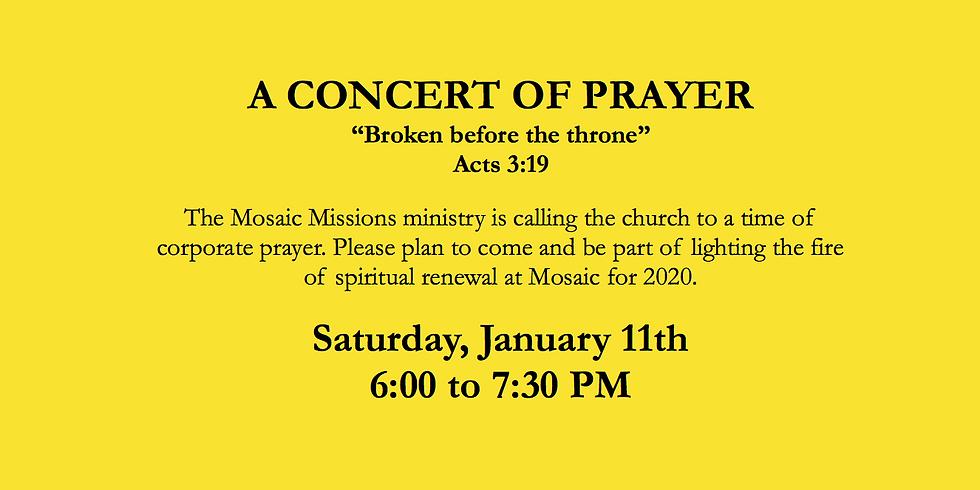 A Concert of Prayer