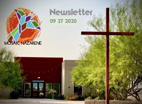 09/27/2020 Newsletter