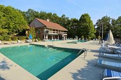 Chalet village community pool