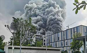 Huawei building near its research lab in Dongguan hit by fire