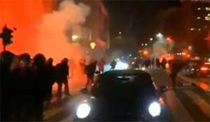 CARNAGE in Rome as anti-lockdown riots breakout – police attacked with fireworks