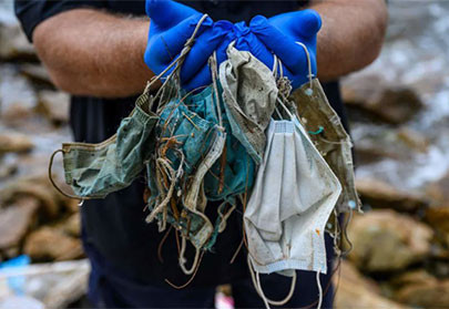 Face masks are polluting the world's beaches and oceans, pose potential health risks to humans