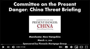Roger Robinson's Comments at New Hampshire CPDC Threat Briefing