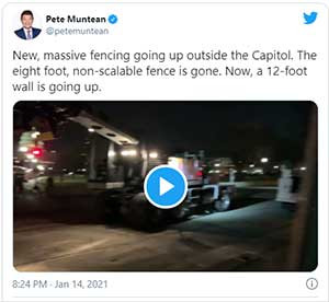 'Walls don't work' update: 8-foot non-scalable fence around U.S. Capitol replaced by 12-footer