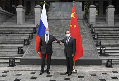 China, Russia officials meet in show of unity against EU, US