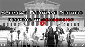 AMERICA'S FRONTLINE DOCTORS AT THE STEPS OF THE SCOTUS RESPOND TO BIG TECH CENSORSHIP