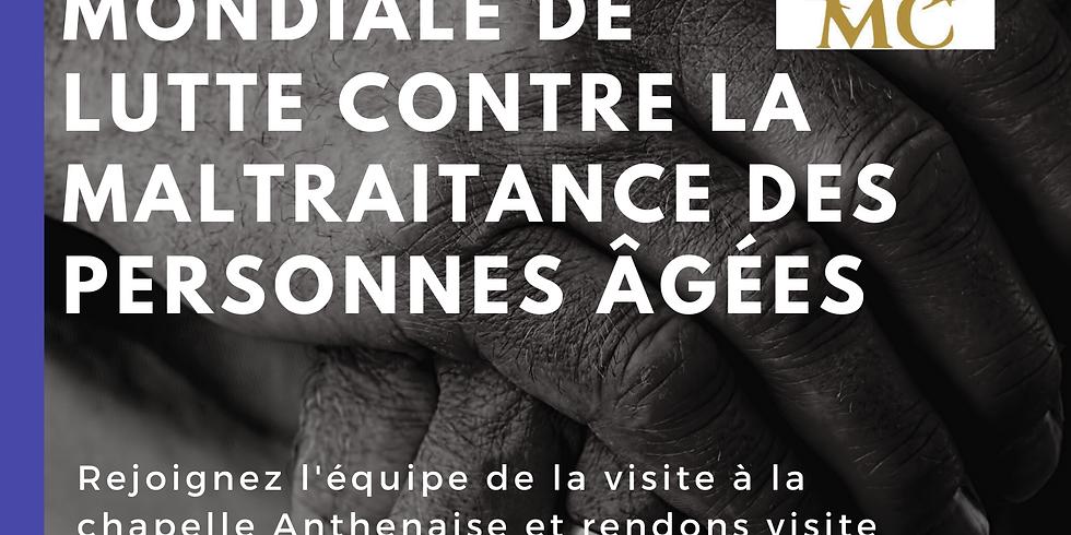 Lutte mondiale contre la maltraitance des personnes âgées.