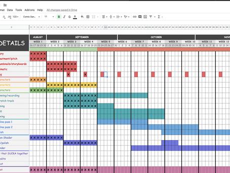 Week 5 - Schedule and Shot List