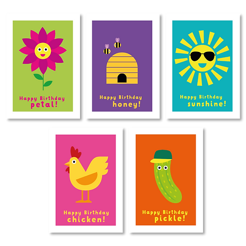 BIRTHDAY CARDS (PACK OF 5)
