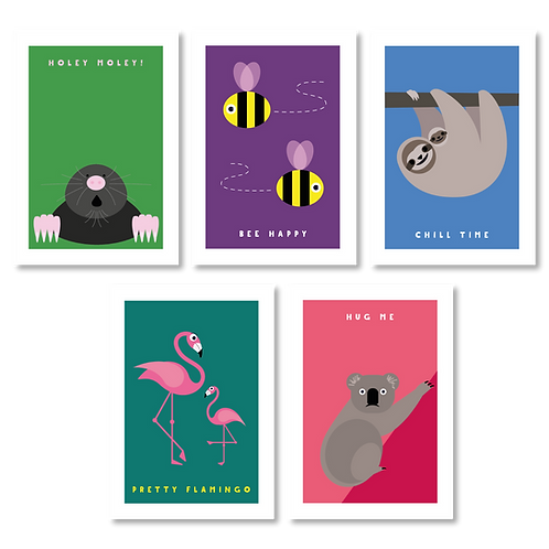 ANIMAL CARDS (PACK OF 5)