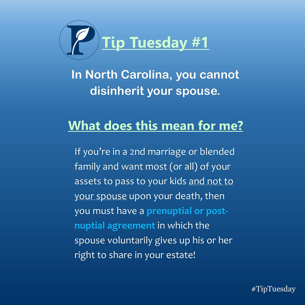 Tip Tuesday: Spousal Disinheritance