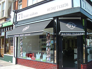 Blinds fitted to hair dressers