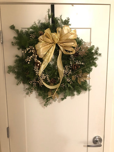 Hand-Decorated Wreath 24""