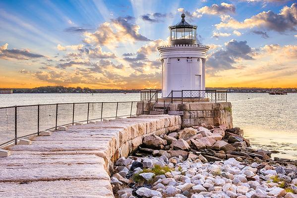 South Portland, Maine, USA at the Portla