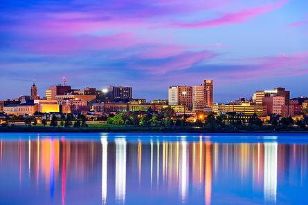 Portland, Maine, USA downtown cityscape