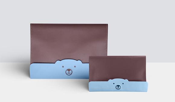 Kit Família Urso Marrom e Azul