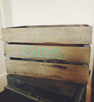 Wooden crate for cards